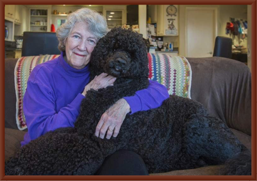 Julie Congratulates Bernie on His Westminster Best of Breed Win